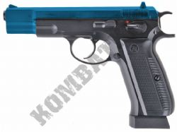 KJW KP09 CZ 75 Replica Pistol Gas Blowback Airsoft BB Gun 2 Tone Blue Black Full Metal